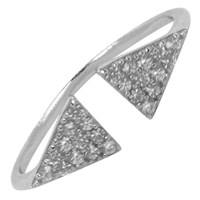 Hysteric Co. Double Triangle Ring Silver