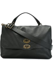 Zanellato Large 'Postina' Satchel Black