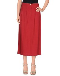 Momoni Momoni Skirts 3 4 Length Skirts Women Red