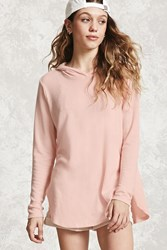 Forever 21 Brushed Hooded Sweater Blush
