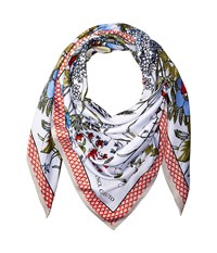 Vince Camuto Wild Flowers Twill Square Scarf White Multi Scarves