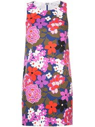Trina Turk Floral Print Fitted Dress Multicolour
