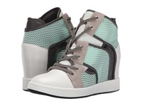 L.A.M.B. Gera White Mint Grey Women's Wedge Shoes