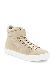 K Swiss Suede High Top Sneakers Sand