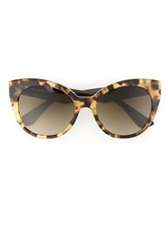 Miu Miu Cat Eye Sunglasses Brown