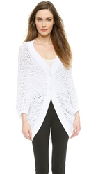 Viktor And Rolf Cocoon Drape Cardigan White
