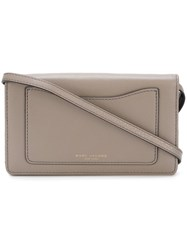 Marc Jacobs 'Recruit' Wallet Crossbody Bag Grey