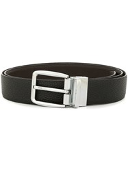 Cerruti 1881 Silver Buckle Belt Black