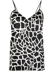 Federica Tosi Abstract Print Cami Top Black