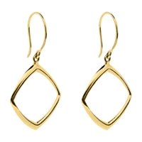 Dinny Hall 22Ct Gold Plated Sterling Silver Cushion Drop Earrings Gold