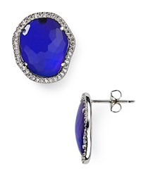 Nadri Sterling Silver Pave Tanzanite Stud Earrings Bloomingdale's Exclusive