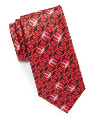 Star Wars X Wing Patterned Tie Red