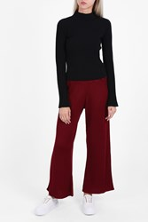 Rodebjer Ros Rib Knit Trousers Red