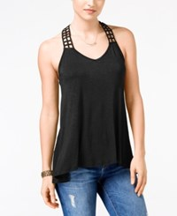 American Rag Juniors' Crocheted Back High Low Tank Top Only At Macy's Black