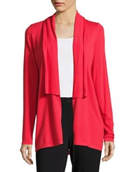 T Tahari Lorena Lace Trimmed Cardigan Red