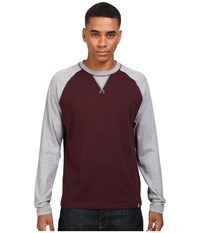 The North Face Long Sleeve Copperwood Crew Root Brown Heather Zinc Grey Heather Men's Clothing Burgundy