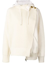 Sacai Deconstructed Hoodie White