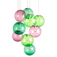 Fatboy Spheremaker Suspension Lamp Pink And Green