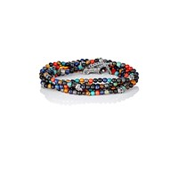 M. Cohen Bead And Skull Charm Wrap Bracelet Multi