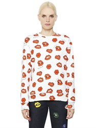 Au Jour Le Jour Lip Printed Cotton Sweatshirt