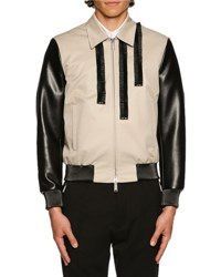 Dsquared Coated Bomber Jacket W Ruched Trim Stone Beige