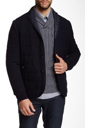 Zachary Prell Caring Cross Wool Blend Jacket Blue