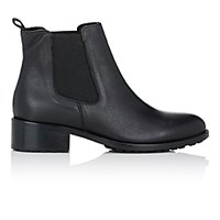 Barneys New York Women's Shearling Lined Chelsea Boots Black Blue Black Blue