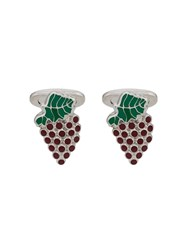 Etro Grapes Cufflinks Silver