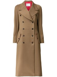 Sonia Rykiel Double Breasted Mid Coat Brown