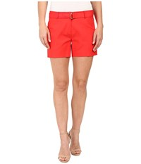 Michael Michael Kors Midi Shorts Coral Reef Women's Shorts Red