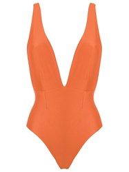Haight Deep V Neck Swimsuit Yellow Orange