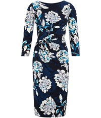 Cc Shadow Rose Jersey Dress Navy