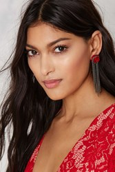Nasty Gal Ring Around The Rose Chain Fringe Earrings
