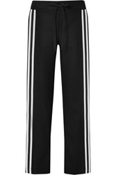 Maggie Marilyn Make Your Move Grosgrain Trimmed Organic Wool Track Pants Black