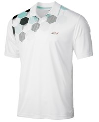 Greg Norman For Tasso Elba Men's Printed Polo Created For Macy's Bright White