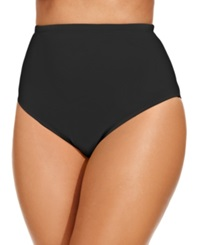 Lablanca La Blanca Plus Size High Waist Swim Brief Bottom Women's Swimsuit Black