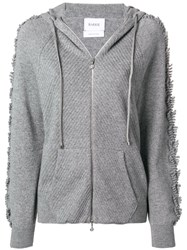 Barrie Cashmere Hoodie Grey