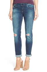 Mavi Jeans Women's Gold 'Emma' Distressed Stretch Boyfriend