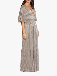 Adrianna Papell Chainmail Knit Dress Gold