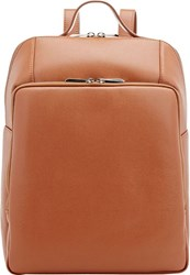 Barneys New York Structured Backpack Brown