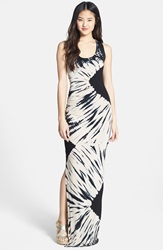Felicity Coco Tie Dye Tank Maxi Dress Nordstrom Exclusive Ivory Black