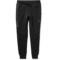 Nike Tapered Cotton Blend Tech Fleece Sweatpants Black