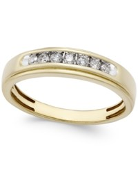 Macy's Men's Diamond Band 1 4 Ct. T.W. In 10K Gold White