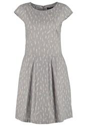 Opus Wolantha Summer Dress Stone Grey Taupe