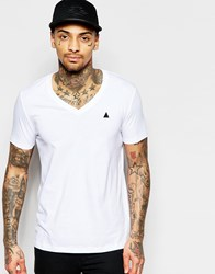 Asos T Shirt With V Neck And Embroidery In White White