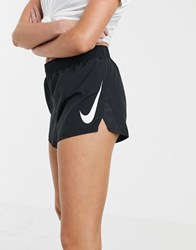 Nike Running Swoosh Shorts In Black