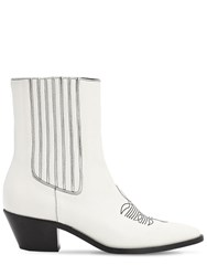 Zadig And Voltaire 40Mm Leather Ankle Boots White