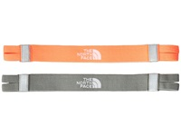 The North Face Double Split Headband Fiery Coral Sedona Sage Grey Headband Orange