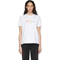 Stella Mccartney White We Are The Weather T Shirt