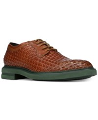 Donald J Pliner Men's Eloi Woven Leather Oxfords Men's Shoes Saddle